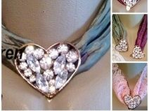 *Diamond-Heart* Halsband 1-45