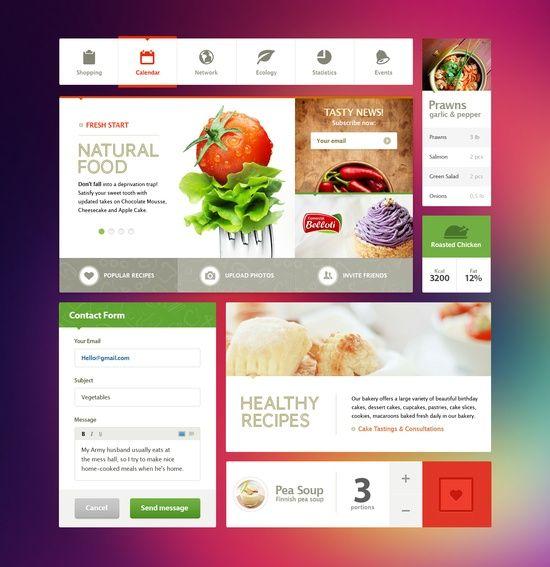 Food Restaurant Web Design Boxed Layout Web Design