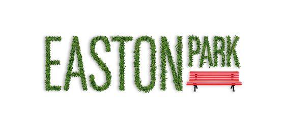 Easton Park logo in grass. || Jody Worthington #logo #grass #effect #bench #branding