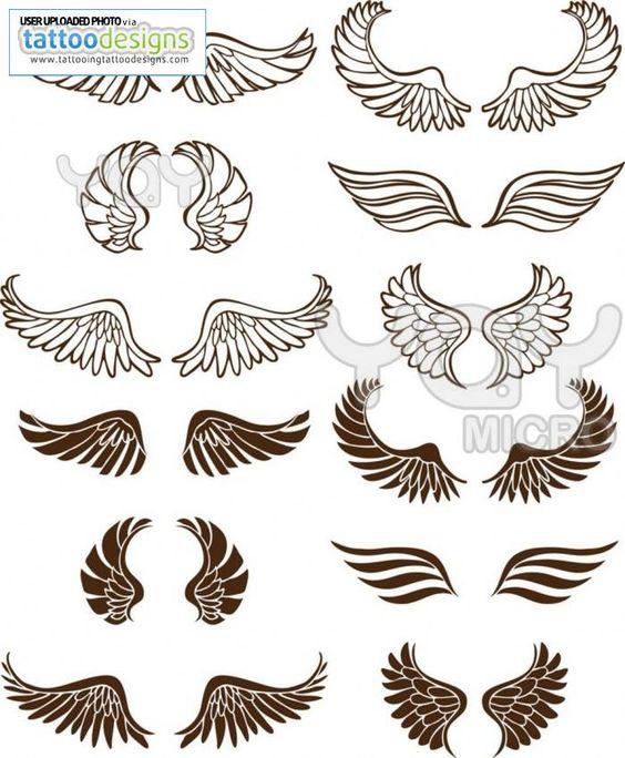 Angel wings tattoos                                                       …