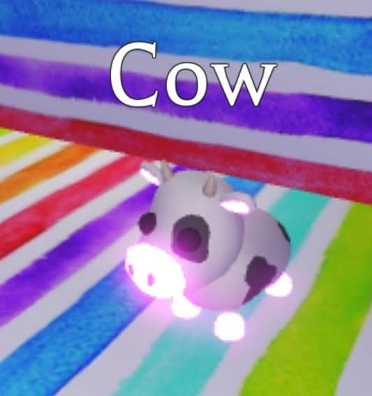 Adopt Me In 2020 Cow Neon Pets