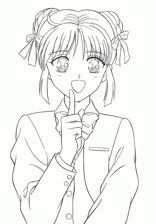 صور انمي بنات بدون تلوين Google Search Cute Coloring Pages Coloring Pages Aesthetic Anime