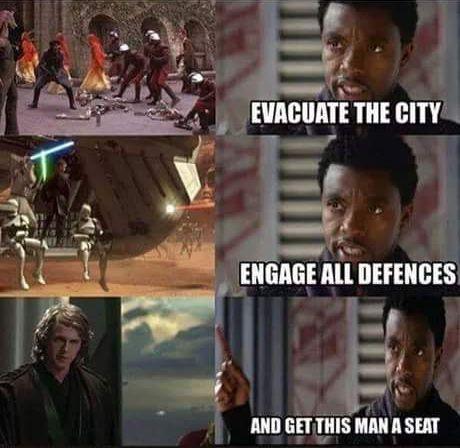 Tchalla To Star Wars Star Wars Humor Star Wars Memes Star Wars Jokes