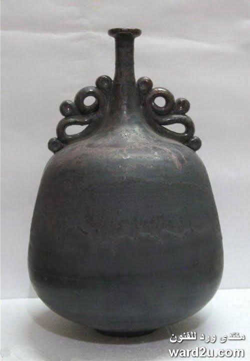 مشغولات الخزاف ابراهيم سعيد Ibrahim Said Vase Ceramic Art Perfect Form