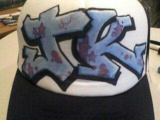 Hand Painted graff trucker hat by Chris Rockwell  www.facebook.com/chrisrockwell  www.karmacartel.com #streetwear