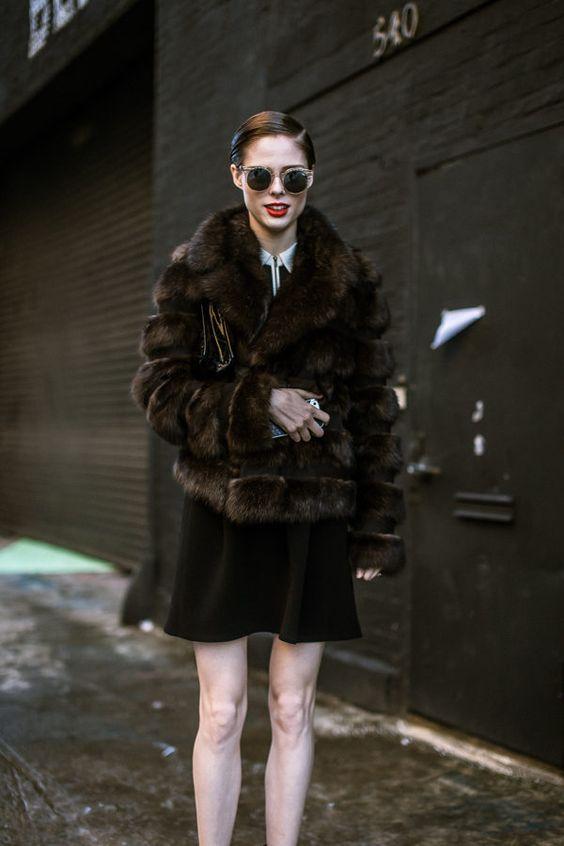 Coco Rocha at NYFW — Street Style, Day One: Amazing Coats, Big Jewels - NYFW Fall 2014 via @Racked