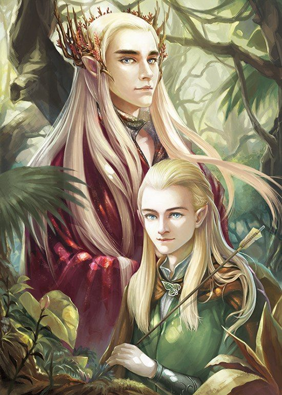 yourlaranikaisakova:  Thranduil&Legolas by 神隱三月聚糧 (valimar)