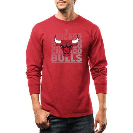 NBA Chicago Bulls Big Men's Movin Up Long Sleeve Basic Tee, Size: 2XL, Red