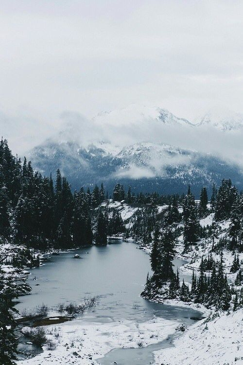Chilly View Of Blue Mountains A Lake Sprinkled With Snow And Dusted With Ice Winter Landscape Photography Winter Landscape Nature Photography