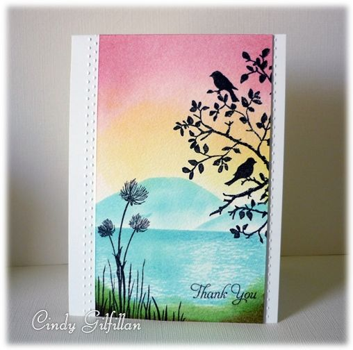 Birds at Sunset by frenziedstamper - Cards and Paper Crafts at Splitcoaststampers