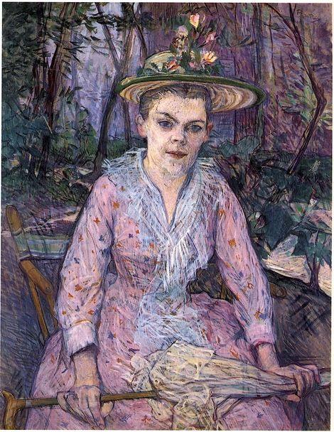 Henri de Toulouse-Lautrec, Berthe The Deaf In The Garden Of Monsieur Forest