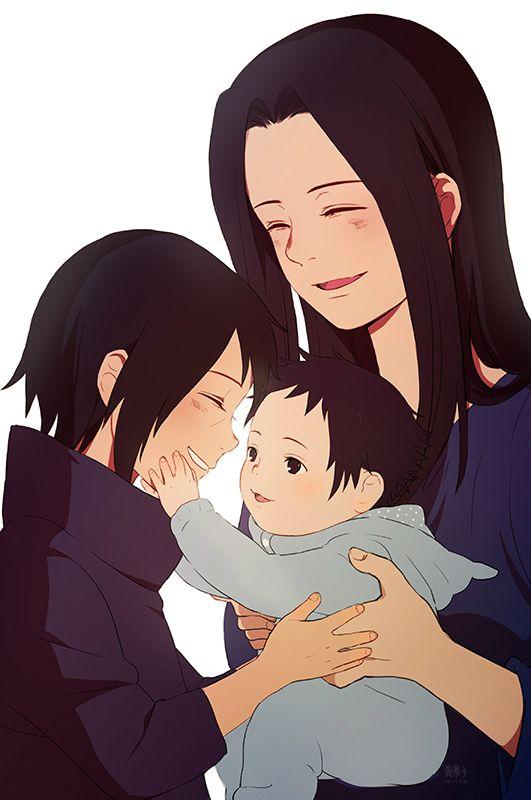 Group Of Mikoto And Baby Sasuke