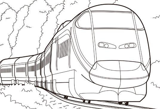 山形新幹線 E3系つばさぬりえ ぬりえ新幹線 つばさ新幹線