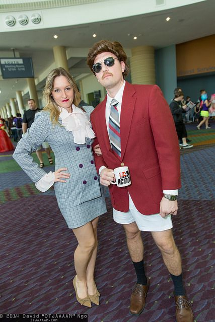 Veronica Corningstone and Ron Burgundy   by DTJAAAAM