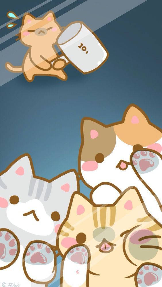 Wallpapers De Gatinhos Fofosbalanca Certa Gato De Anime Arte