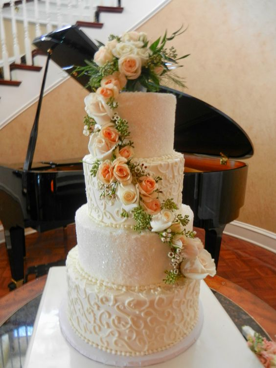 wedding cake with ice crystals www.cheesecakeetc.biz wedding cakes Charlotte NC