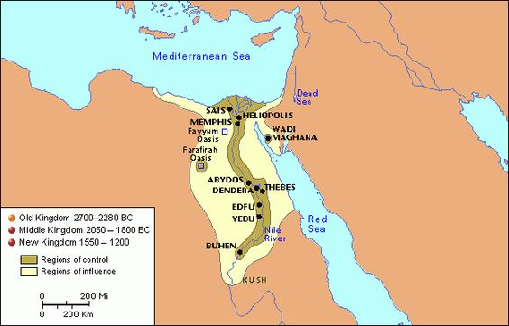 This Is A Map Of The Egyptian Old Kingdom As You Can See Most - Map of egypt during the new kingdom