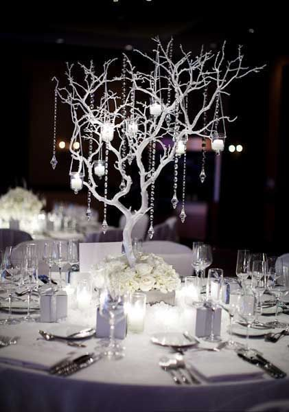 Branches, candle drops. My sister does this and has everything to do it!  Facebook: Absolute Kouture