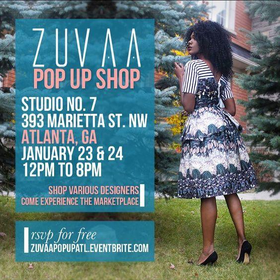 See you this weekend Atlanta! RSVP at zuvaapopupatl.eventbrite.com