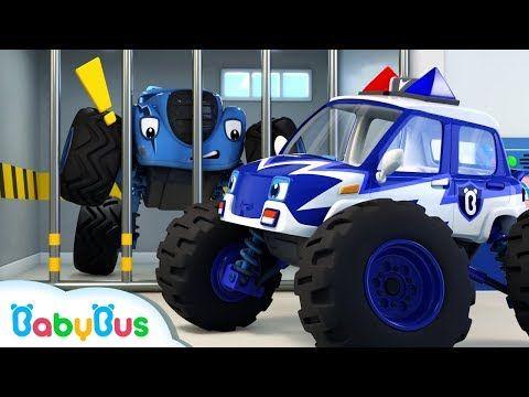 Monster Police Car Song Police Cartoon Nursery Rhymes Kids