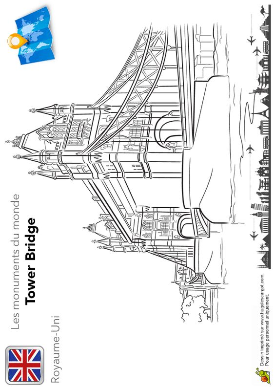 Activite coloriage de tower bridge londres pinterest - Lincroyable maison book tower londres ...