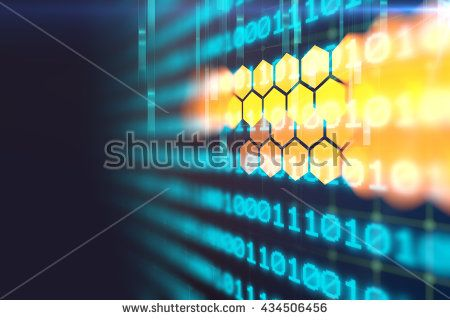 digital code number abstract background, represent  coding technology and…