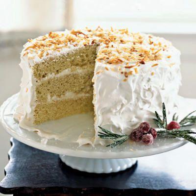 Coconut Cake and Buttercream Frosting Recipe http://www.myrecipes.com/recipe/coconut-cake-with-buttercream-frosting-10000001559227/