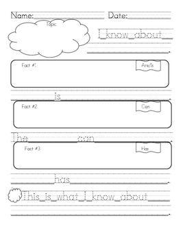 ... Writing First grade informative/explanatory writing graphic organizer