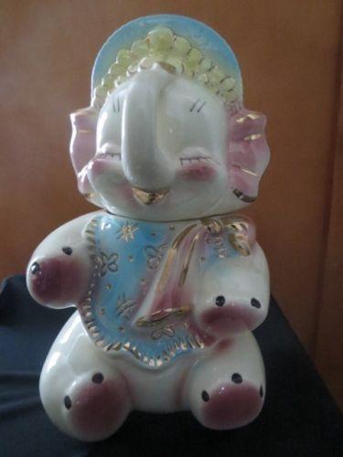 Vintage 1950 39 s american bisque baby elephant cookie jar vintage cookie jars pinterest - Vintage elephant cookie jar ...