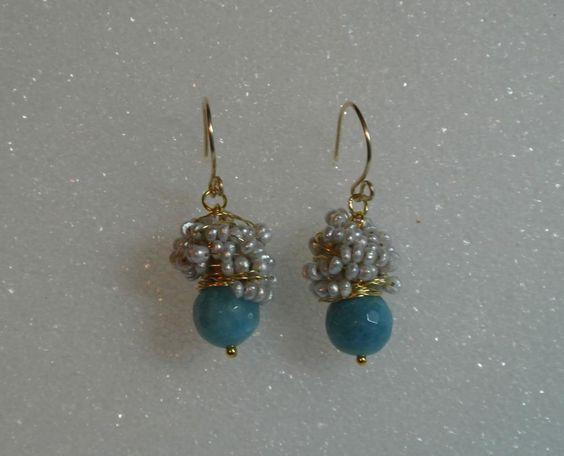- Aqua wrap earrings