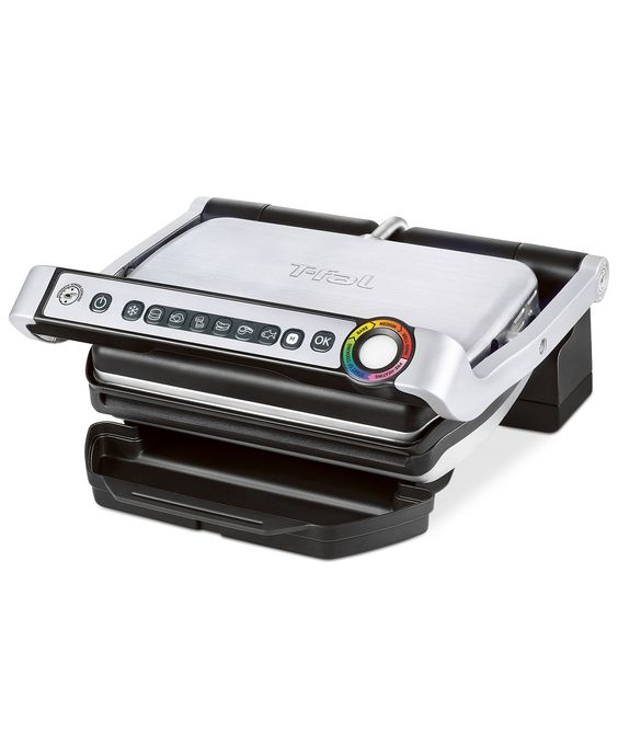 Ready to get your grill on? Burgers, sausages, fish and more are prepared in no time on the amazing T-Fal OptiGrill.