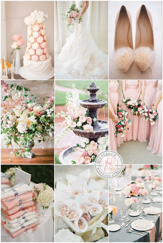 French Inspired Peach and Blush Wedding Inspiration / French Wedding Style Blog - guest post and inspiration board by Catharine Noble Photography