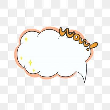 Cute Explosion Cloud Dialog Bubble Border Material Element Png And Psd Cloud Stickers Doodle Frame Dialogue Bubble