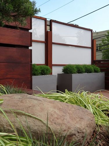 Roof Deck with custom privacy screens, fiberglass