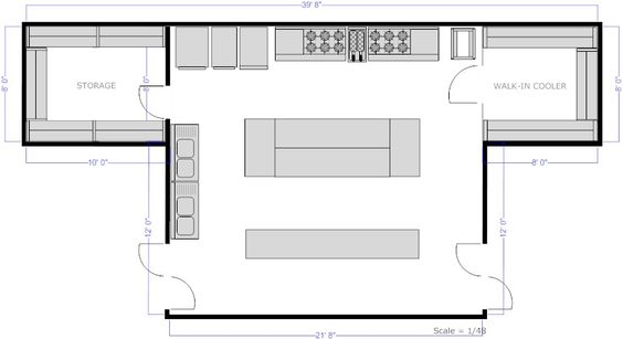 Restaurant Kitchen, Restaurant And Floor Plans On Pinterest