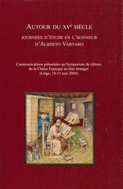Autour du XVe siècle - Presses universitaires de Liège