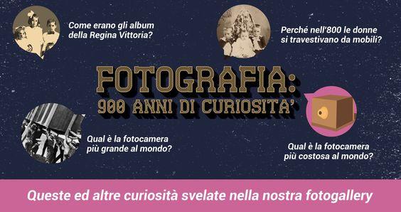 Qual è la fotocamera più grande al mondo? Come erano i primi album di famiglia? Queste e altre curiosità relative al mondo della fotografia svelate nella nostra fotogallery.  Sfogliala qui:   http://www.fotoregali.com/storia-fotografia.aspx