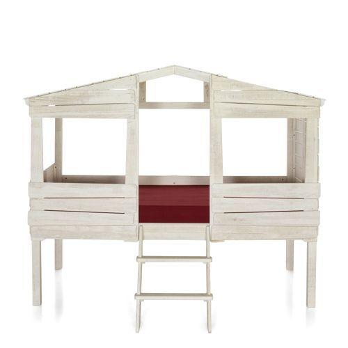 Lit cabane 90x200cm woody wood alin a pour les enfants ou leurs paren - Lit mezzanine alinea ...