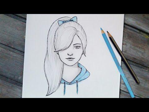 رسم سهل تعليم رسم بنت بقلم الرصاص بطريقة سهلة وبسيطة طريقة رسم وجه بنت رسم بنات كيوت Youtube Art Drawings Art Female Sketch