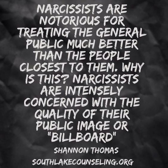 Extremely characstic of a narcissist ; don't want that public image to fall apart from all their hard earned lies....