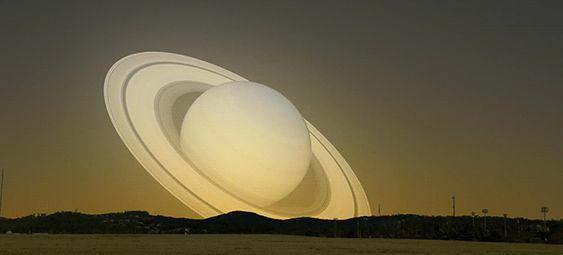 svdsdjzwdhyvrpq7w2oa - Veja uma simulação de Saturno passando pela Terra em rota de colisão com o Sol