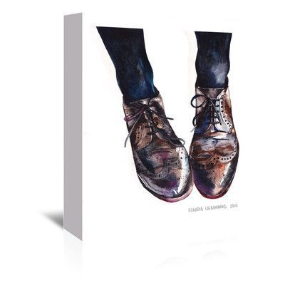 Americanflat Claudia Liebenberg Oxfords 1 Painting Print on Wrapped Canvas Size: