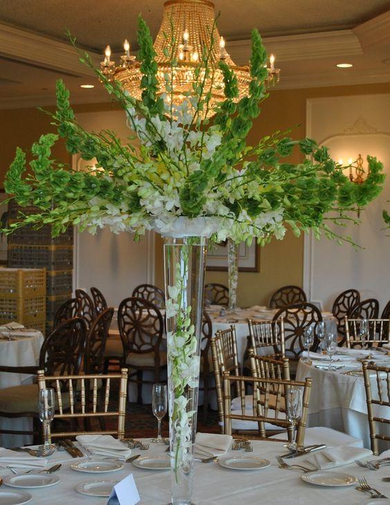 1 campana de irlanda y varas centros de mesa altos for Casa decoracion willow