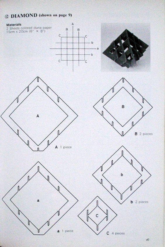 Pop Up Geometric Origami pop-up Pinterest Pendant lights