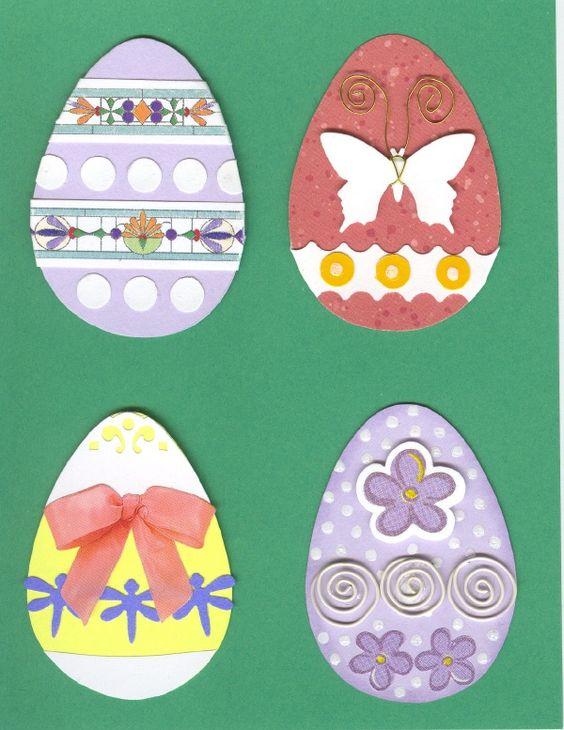Lg. Easter Egg embellishments - Set 4