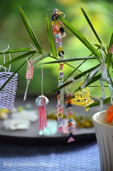 tanabata origami decorations