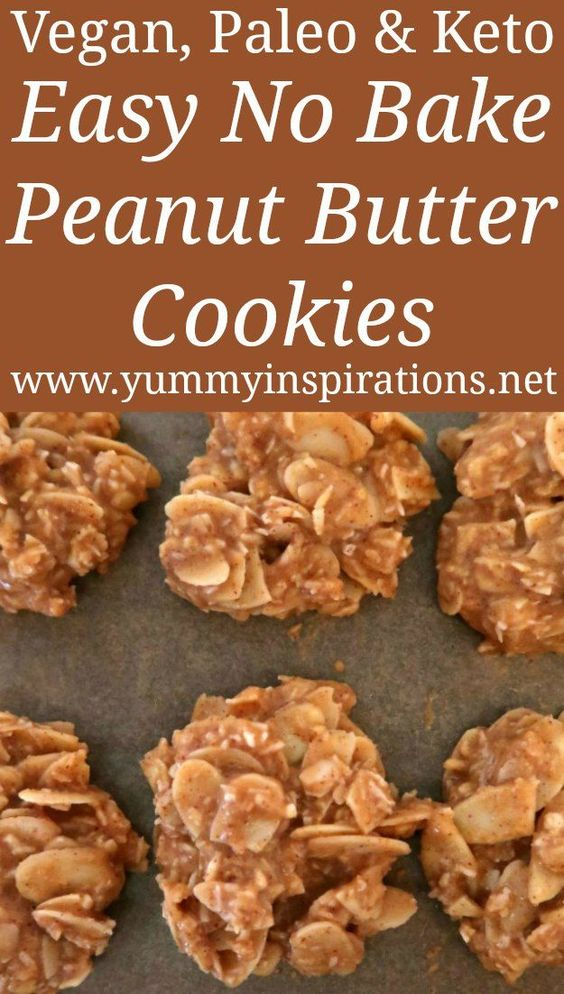 Easy No Bake Low Carb Keto Peanut Butter Cookies Recipe