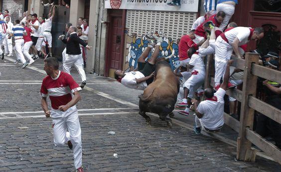 Imágenes exclusivas del segundo encierro de los fotógrafos de Diario de Navarra.