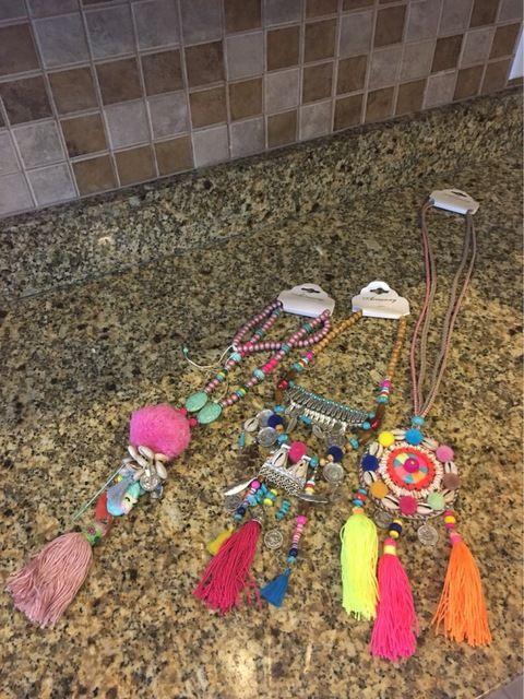 Tienda Online 2016 de cuero de lujo de bohemia de la joyería de la borla de hilo verano de Boho del collar del grano de la borla de la turquesa collares pendientes | Aliexpress móvil