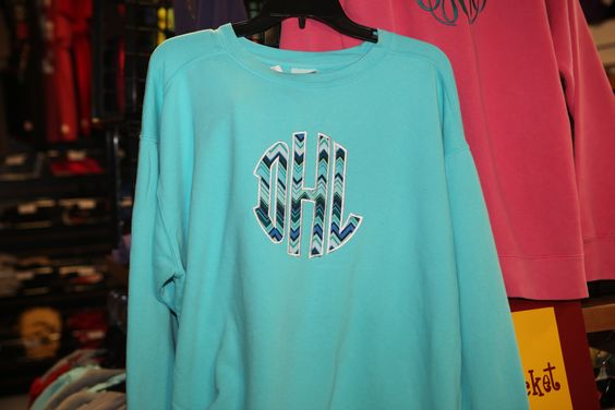 Appliqued Comfort Colors sweatshirt designed at From the Heart www.facebook.com/fromtheheartcullman